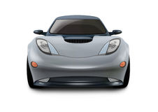 Concept Car 3D Design. It is a concept design of a esportive car. Was made on a 3D software Royalty Free Stock Image