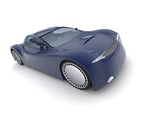 Concept car 3d model. Royalty Free Stock Image