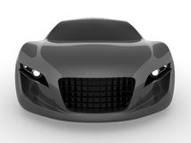 Concept car. Gray concept car. Rendered with Vray 1.50Sp2 Stock Photos