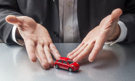 Concept of car dealership or automotive insurance Royalty Free Stock Images