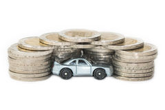 Concept of car expenses or insurance Stock Photos