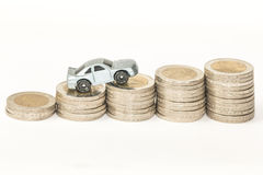 Concept of car insurance,expenses or costs Stock Photos