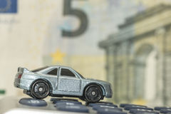 Concept of car insurance,expenses or costs Royalty Free Stock Photography
