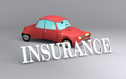 Concept of car insurance Royalty Free Stock Image