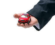 Concept Car insurance. On the white background Royalty Free Stock Photo