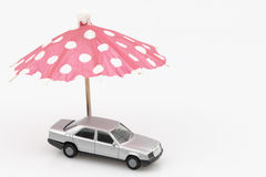 Concept of car protection or safe driving Royalty Free Stock Photography