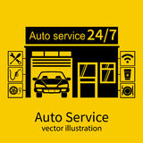 Concept car service Royalty Free Stock Photography
