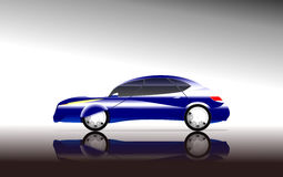 Concept car side view Stock Photos