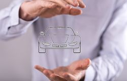 Concept of car transport Royalty Free Stock Images