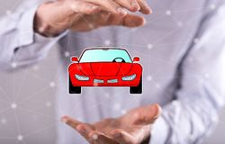 Concept of car transport Stock Photo
