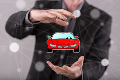 Concept of car transport Stock Image