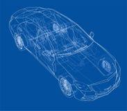 Concept car. Vector Royalty Free Stock Photos