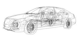 Concept car. Vector Stock Photos