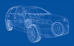 Concept car. Vector Royalty Free Stock Photography