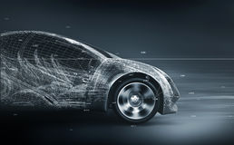 Concept car wireframe Stock Photography