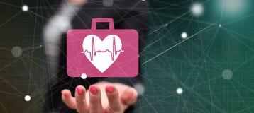Concept of cardiac emergency stock photo
