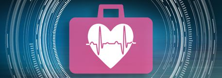 Concept of cardiac emergency. Illustration of a cardiac emergency concept vector illustration
