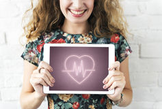 Concept cardiaque de graphique de coeur de maladie cardio-vasculaire photo libre de droits