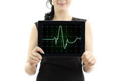 Concept: cardiogram with heartbeat. Stock Image