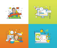 Concept - career development, project management, investment and payments, online training. Concept of career development, project management and investing Stock Images
