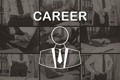 Concept of career. Career concept illustrated by pictures on background Stock Photography