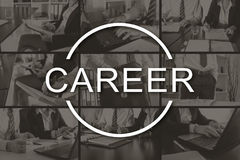 Concept of career. Career concept illustrated by pictures on background royalty free stock image