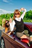 Concept of carefree roadtrip Stock Photos