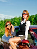 Concept of carefree roadtrip Stock Images