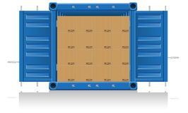 Concept cargo delivery  illustration Stock Photo