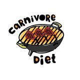 Concept of carnivore, all-meat diet. Excellent for poster, banner, article illustration. Concept of carnivore, all-meat diet. Hand drawn BBQ stove with hand royalty free illustration