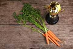 Concept of carrot rewards for achieving goals Royalty Free Stock Photos