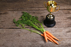 Concept of carrot rewards for achieving goals - Series 3 Royalty Free Stock Photo