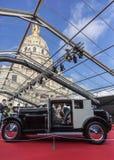 The Concept Cars Exhibition and Automobile Design - Paris 2018. PARIS, FRANCE - FEBRUARY 04, 2018: A vintage car is shown in the Concept Cars Exhibition and Stock Photo