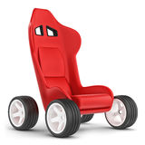Concept cart. Seat on wheels. Royalty Free Stock Image
