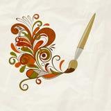 Concept cartoon brush Royalty Free Stock Photo