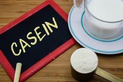 Concept of Casein in milk Stock Images