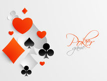Concept of casino with card symbol. Stock Photography