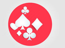 Concept of casino with card symbol. Royalty Free Stock Photo