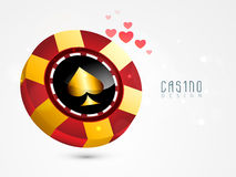Concept of casino chip. Royalty Free Stock Photography