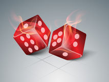 Concept of casino with dices. Royalty Free Stock Images