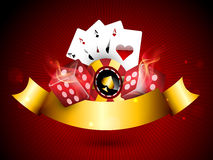 Concept of casino objects. Royalty Free Stock Images