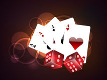 Concept of casino objects. Stock Images