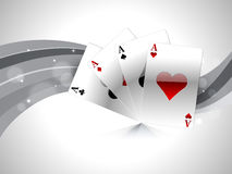 Concept of casino with playing cards. Royalty Free Stock Photo
