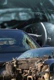 Concept cassé de voitures comme fond photographie stock