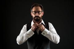 Concept caucasien Chemise caucasienne de bouton d'homme Homme caucasien avec la barbe et la moustache Homme d'affaires caucasien  photo libre de droits