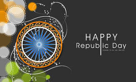 Concept of celebrating Happy Indian Republic Day. Royalty Free Stock Image