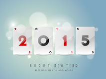 Concept of celebrating Happy New Year 2015. Royalty Free Stock Images