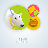 Concept of celebrating Happy Pongal festival. Stock Photography