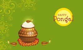 Concept of celebrating Happy Pongal festival. Stock Photos