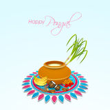 Concept of celebrating Happy Pongal festival. Royalty Free Stock Images